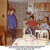 From left, Sue (Reynolds) Johnston, Donna (Colby) and Jerry Reynolds.<br /> At the home of Sue and Jerry's mother Kathryn Reynolds.<br /> Verdigris, OK, Easter 11 Mar 1982