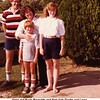 Gene and Paula Reynolds and their kids Dustin and Laura.<br /> At the home of Martin & Kathy Howard.<br /> Verdigris, OK  18 Jul 1982
