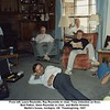 From left, Laura Reynolds, Ray Reynolds in chair, Tony Johnston on floor,<br /> Bud Patton, Gene Reynolds in chair, and Martin Howard.<br /> Martin's house, Verdigris, OK  Thanksgiving, 1991