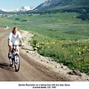 Dustin Reynolds on a biking trip with his dad, Gene.<br /> Crested Butte, CO  1997