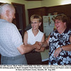 "From left, Warren ""Bud"" Patton (1916-2008), Sue Ellen Johnston, and Donna (Todd) Reynolds.<br /> The 60th birthday party for Bud's daughter Paula Reynolds.  Sue and Donna are Paula's sister-in-laws.<br /> At Gene and Paula's home, Newalla, OK  Aug 2003"