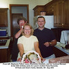 From left, Stephanie Patton, Laura (Reynolds) Arbetello, and her husband Michael.<br /> At the 60th birthday party for Laura's mother Paula Reynolds.<br /> At Paula and Gene's home, Newalla, OK  Aug 2003
