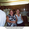 Donna (Todd) Reynolds and her daughter Valerie Suzanne.<br /> Donna's sister-in-law Paula Reynolds' 60th birthday party.<br /> At Gene and Paula's home, Newalla, OK  Aug 2003