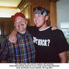 Tom Reynolds, left, and his nephew Jeff Johnston.<br /> At the 60th birthday party for Tom's sister-in-law Paula Reynolds.<br /> Gene and Paula's home, Newalla, OK Aug 2003.