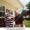 """Gene Reynolds and his mother's cousin William """"Bill"""" Willsey.<br /> At Gene and Paula's home, Newalla, OK  Aug 2003"""