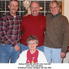 Kathryn Reynolds and her sons, from left<br /> Jerry, Tom, and Gene.<br /> At Kathryn's home, Verdigris, OK  Dec 2003