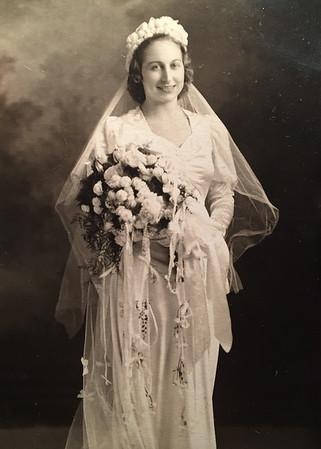 Bessie Wilcox in Bridal Dress 1
