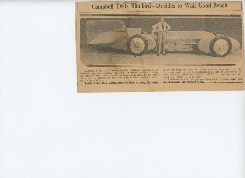 Captain Campbell and his Bluebird 3