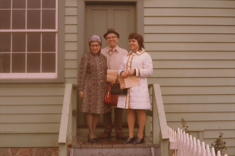 Cynthia Wilcox and Parents Jan 1973 1