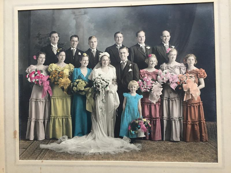 Frank and Bessie Wilcox Wedding Party 1