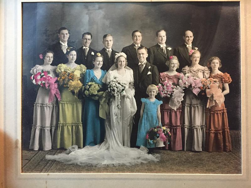 Frank and Bessie Wilcox Wedding Party 2