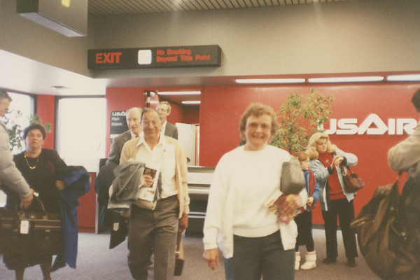 Frank and Bessie at Airport