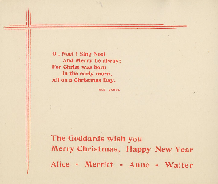 Historic Family Holiday Cards 111