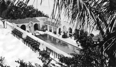 Pool at Castle Harbor Hotel-Bermuda-1938