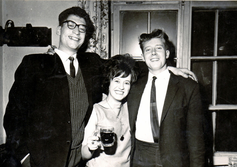 With Jock and his wife.