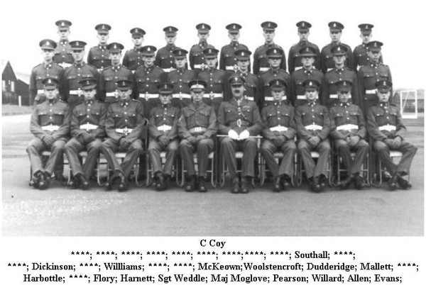 We had all just been transferred from Arborfield; middle row extreme right flank.