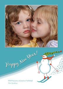Snowman New Year vert
