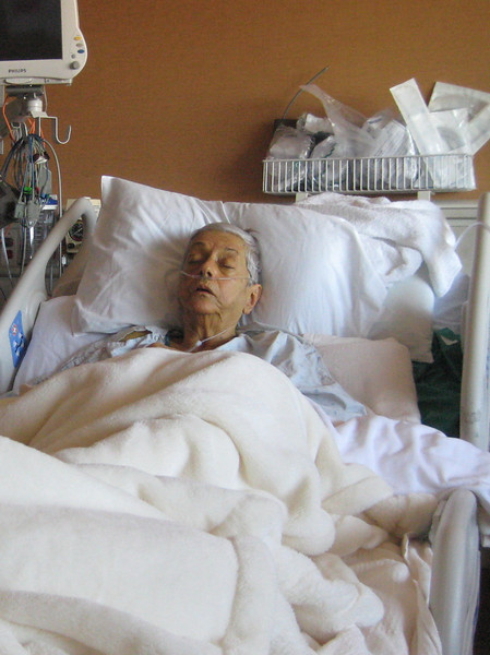 March 23, 2012<br /> <br /> Mary Garcia (aka: My ex mother in law)  at the Hosital