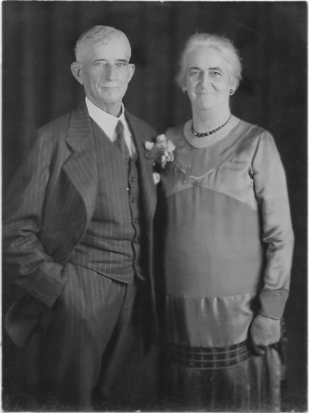 Wilson Fred & Hortense at Bertha's wedding to Ed Patotzka in Sep 1928