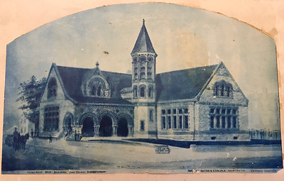 John Wilson was Construction Super on Library in Springfield, Ohio in 1889 in an orginal watercolor drawing for display
