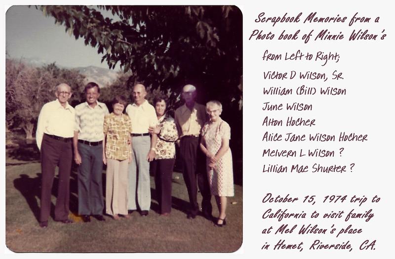 Photo of Calif Trip in Minnie Wilson's Album