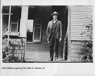 Wilson, FW on Porch at Stiles St Houston - Enlarged