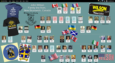 The Family Tree for John Wilson of New Brunswick Canada & his Descendants!