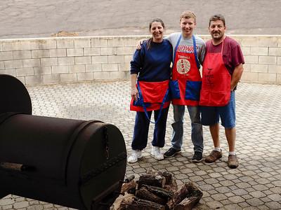 The BBQ Pit Masters: April & Anthony Bridgewater with nephew
