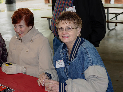 Student  Priscilla Ryder & Vickie Hall shaking dice in a new game...
