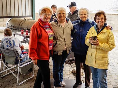 Mary Friday, Ann Cain, Clair & Kathy Warr