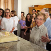 The cake cutting at Pat's 85th Birthday