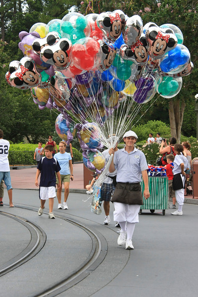 Balloons, balloons. 8 to 10.00 dollars each! It's like beer at the ball park.
