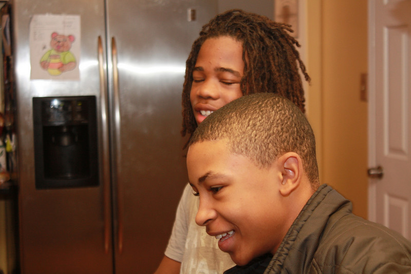 My nephews, Miles and Robert.