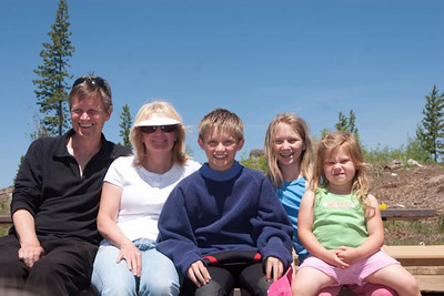 Family shot of Scott, Sherrie, Coleson, Evie Boshell and Lili, too.