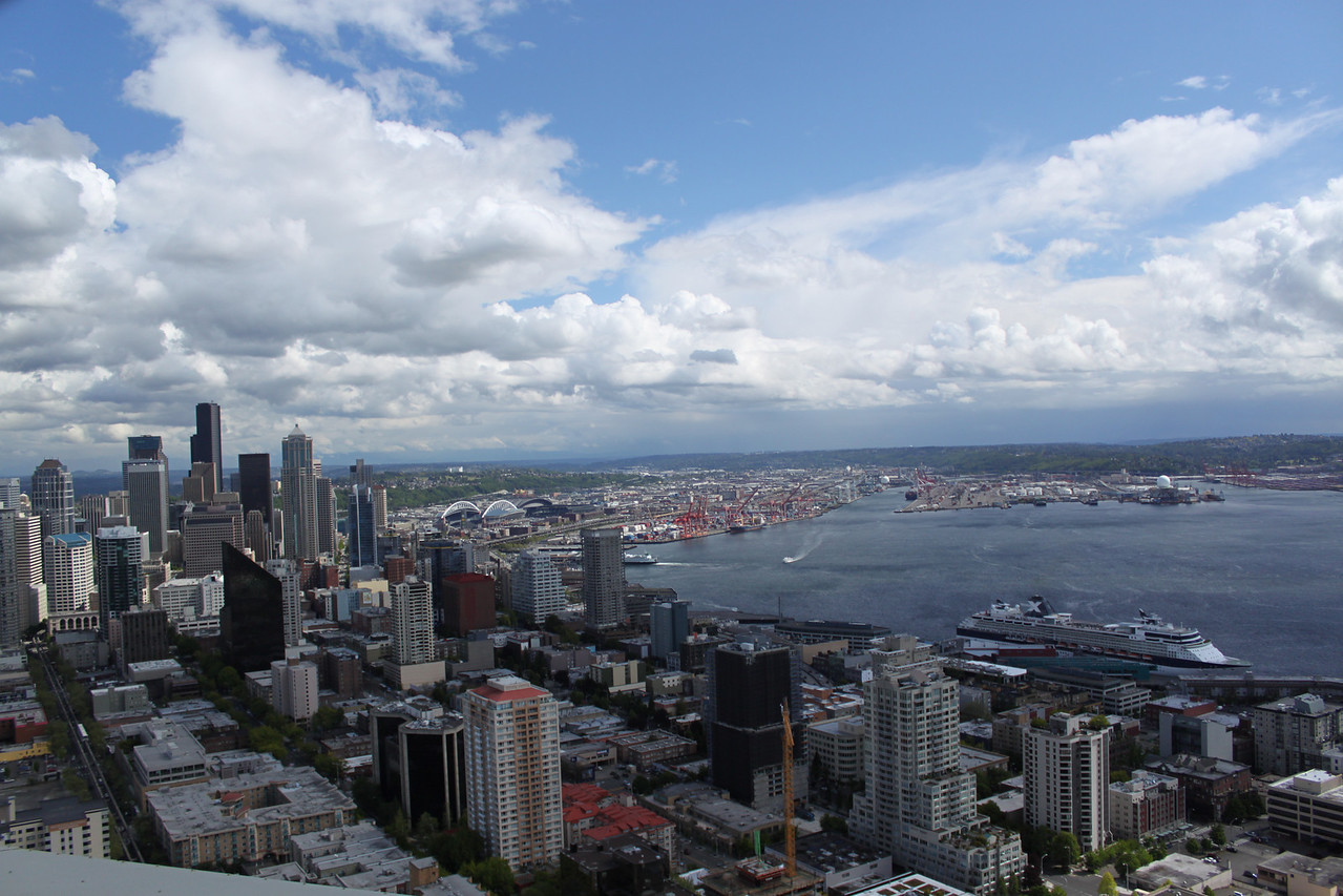 Downtown Seattle from the Needle.
