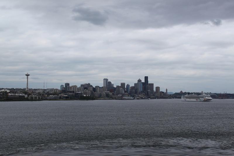 Seattle skyline on departure.