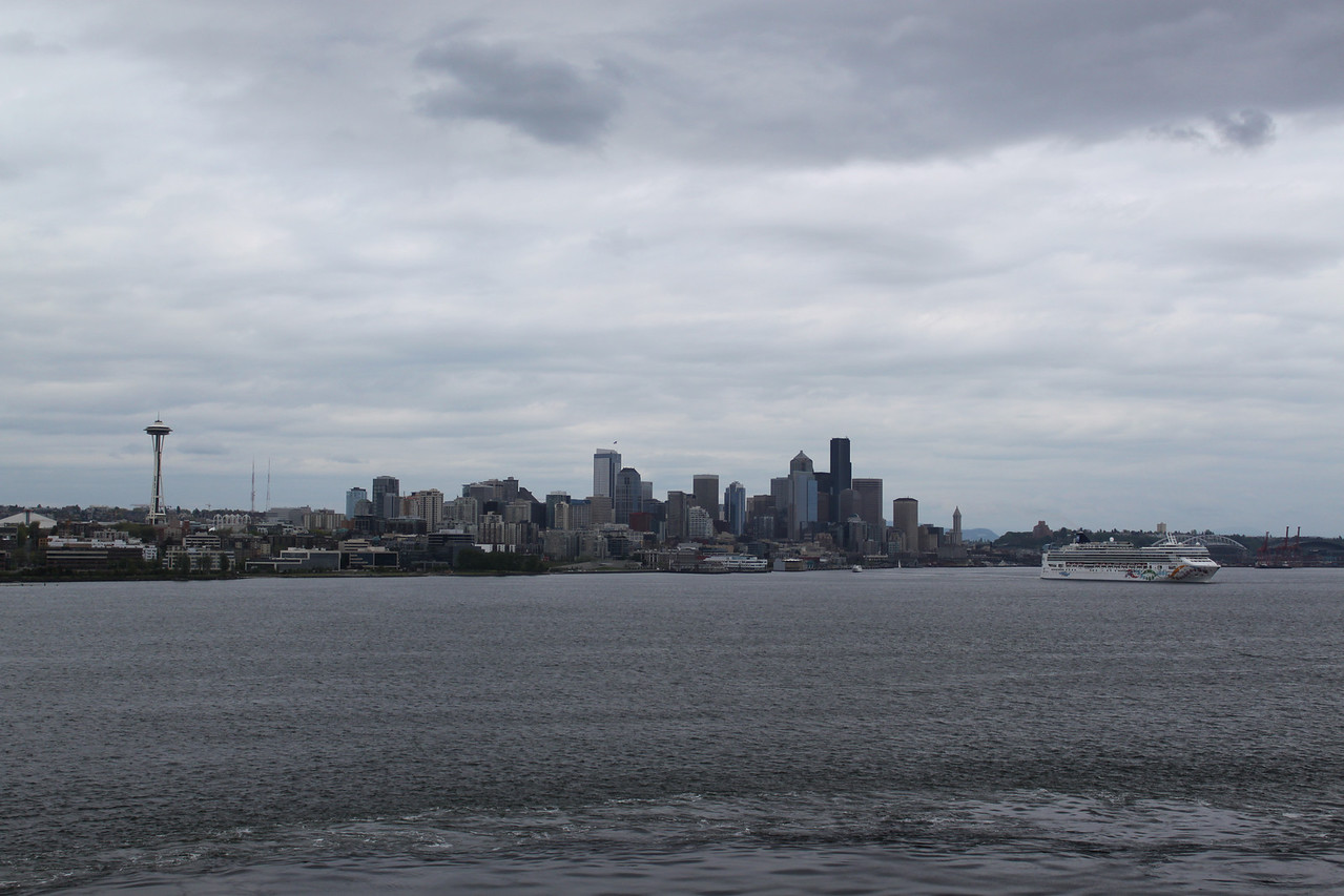 Seattle skyline on departure.