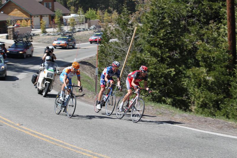 Top 3 leaders descending Nob Hill in Running Springs