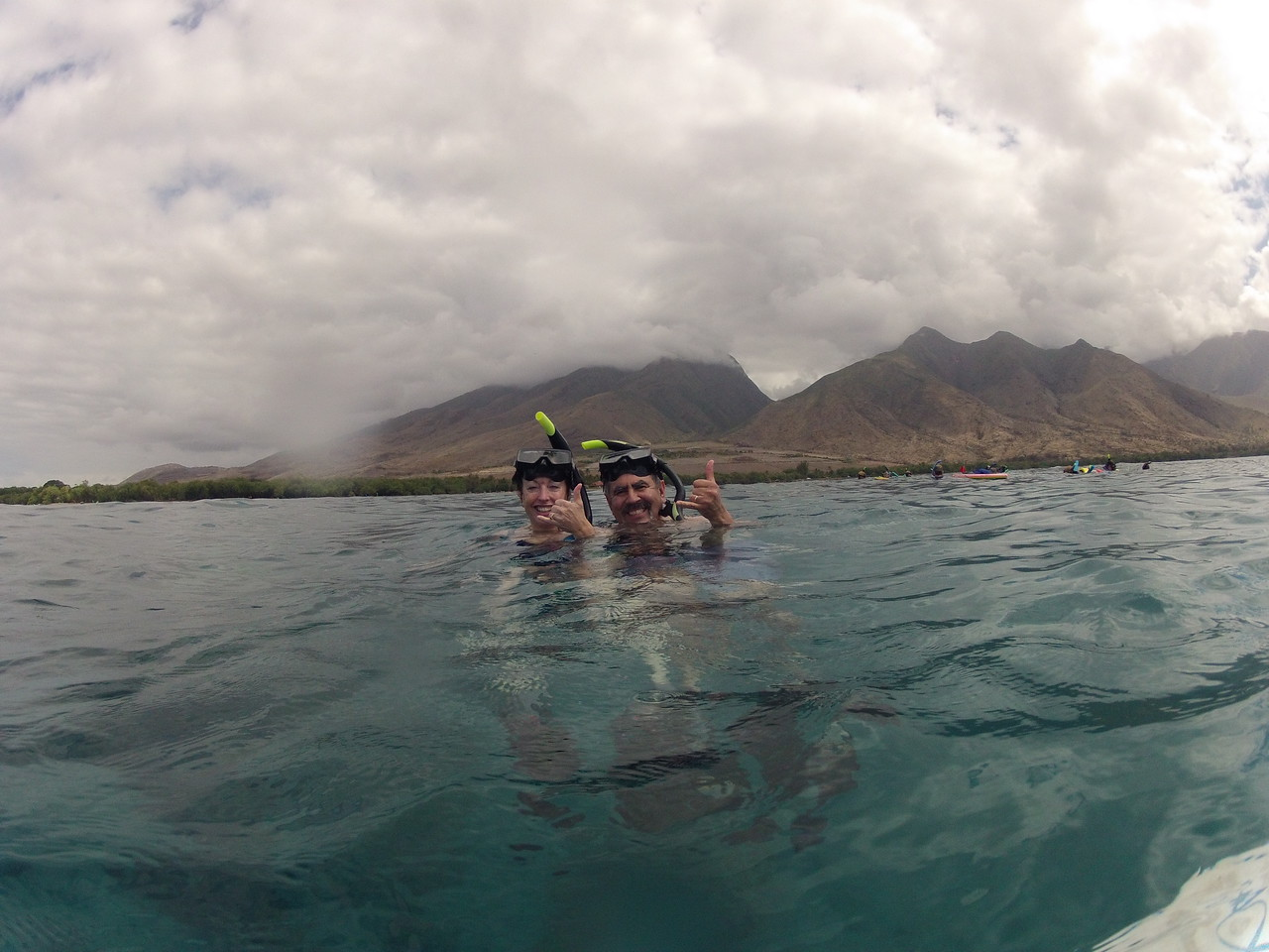 Hero GoPro camera in action at Turtle Point (Olowalu Beach).