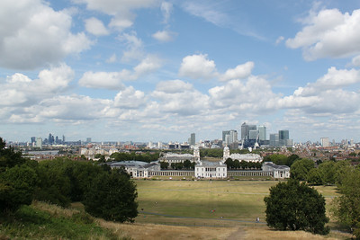 Downtown London landscape from the Royal Observatory.