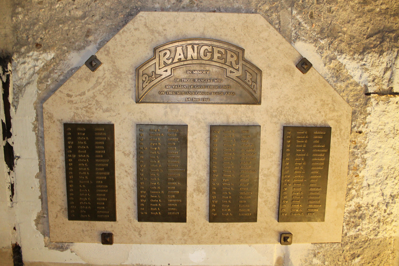 2nd Ranger Memorial at  Pointe du Hoc.