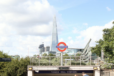 The Tower Hill Station exit.