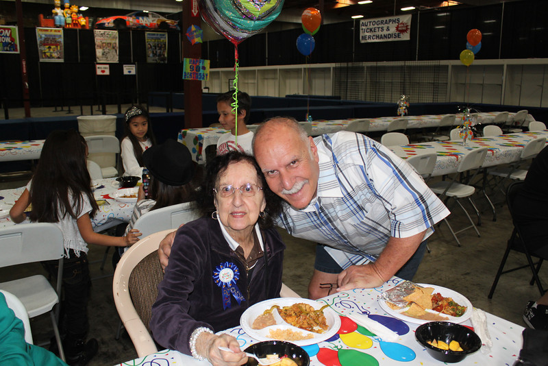 Aww ... Frank and mom Gert on her 90th!