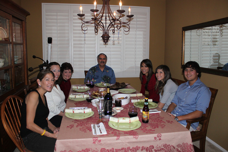 Christmas dinner at Auntie Anna's. Prime rib, fantastically delicious!