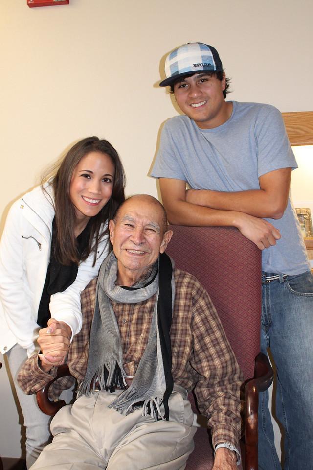 Grandpa and grandkids.