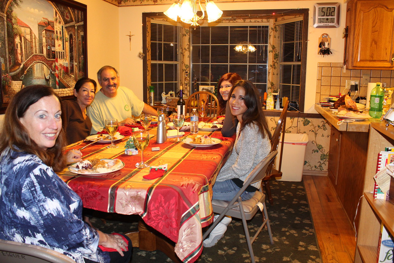 Christmas dinner ... turkey dinner and all the trimmings!