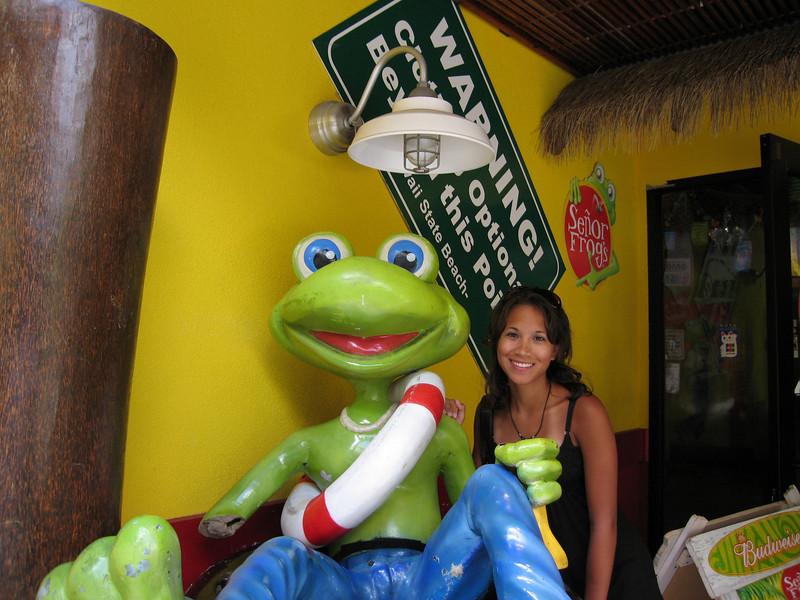 Señor Frogs for dinner.
