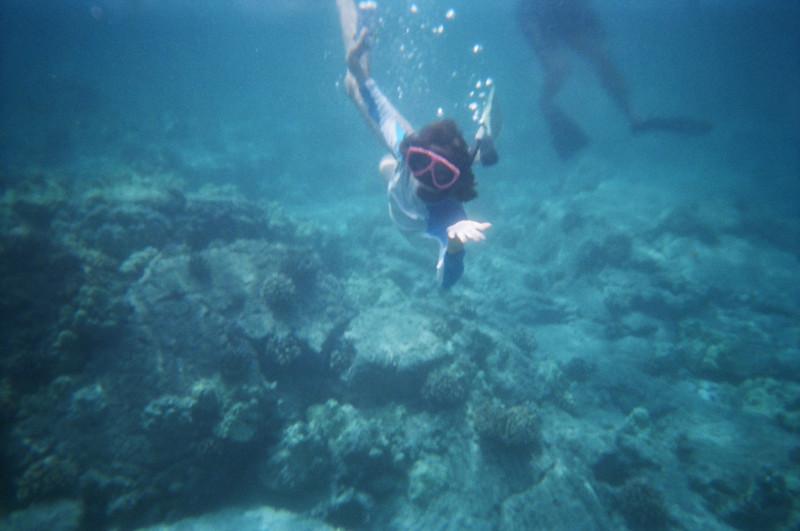 Katie diving!