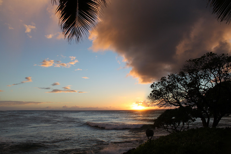 Sunset, Monday, July 19th at Turtle Bay Resort.