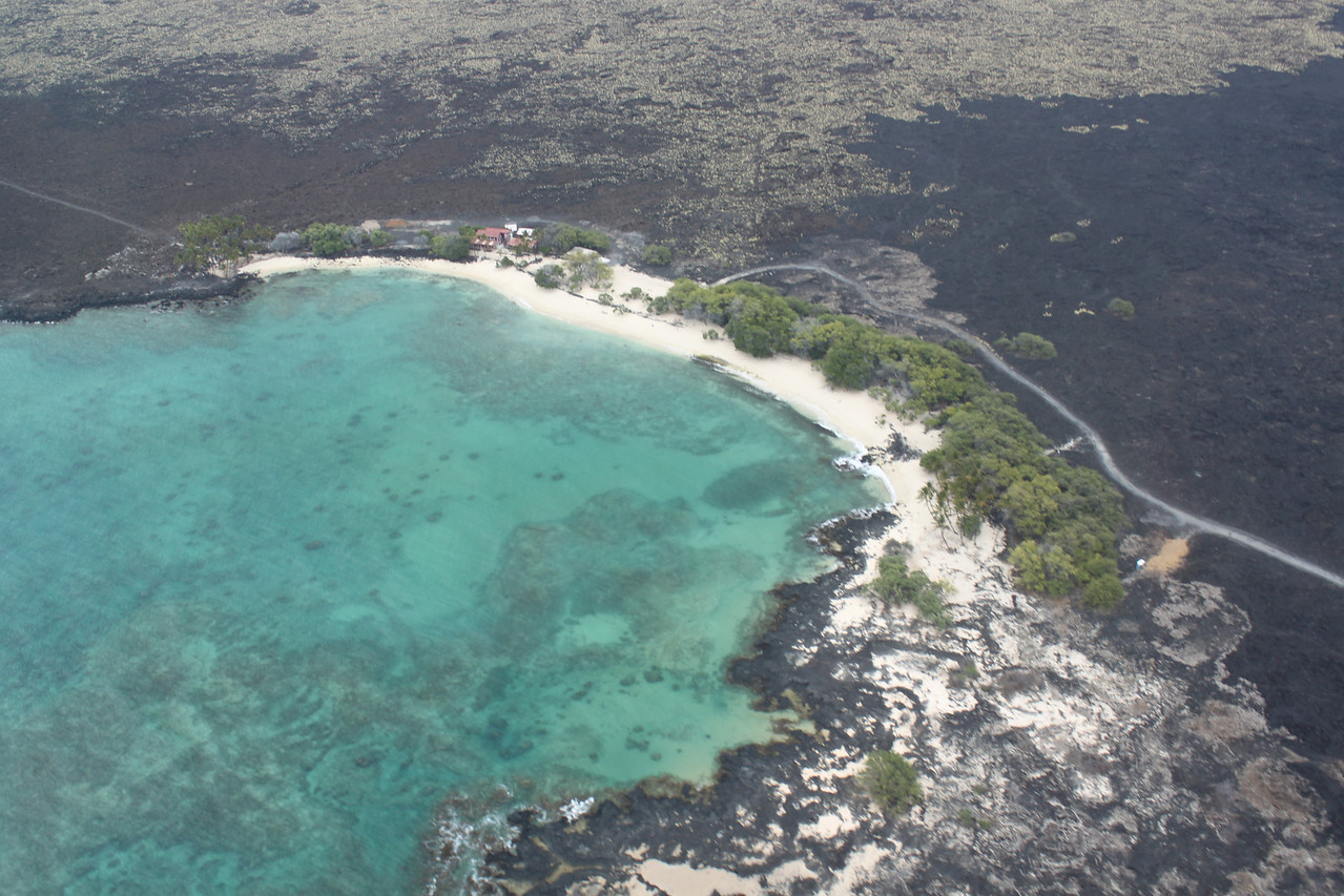 Mahaiula Bay on approach to KOA.